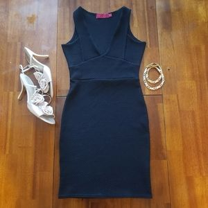 NWOT Boohoo 24/7 Fashion Black Bodycon Dress